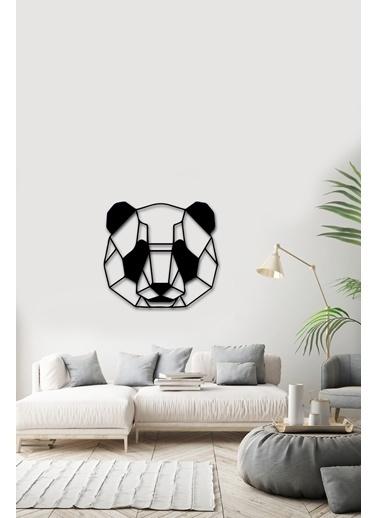Angemiel Home Ayı Panda Metal Duvar Tablosu Siyah